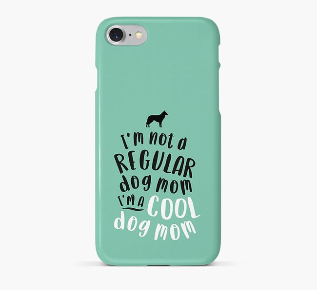'Cool Dog Mom' Phone Case with Belgian Groenendael Silhouette