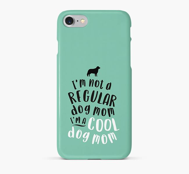 'Cool Dog Mom' Phone Case with Bernese Mountain Dog Silhouette