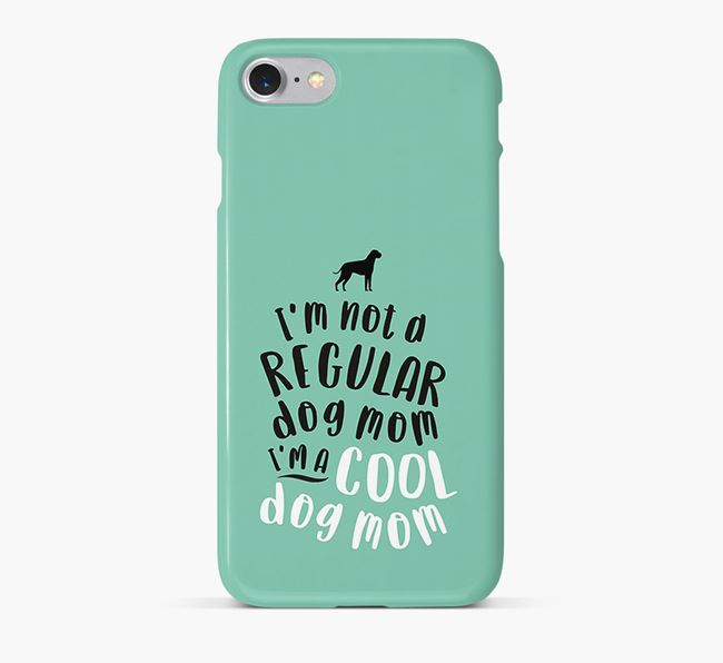 'Cool Dog Mom' Phone Case with Dog Silhouette