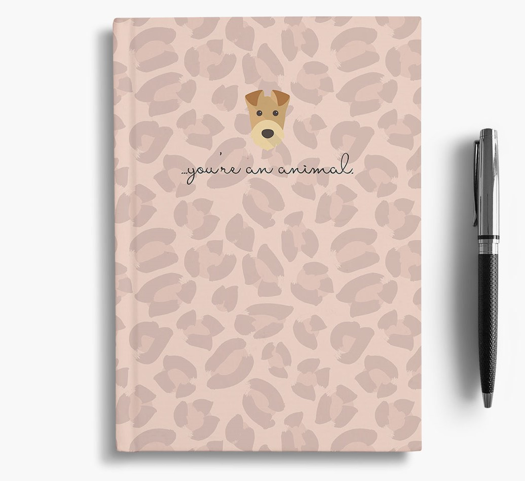 Airedale Terrier {colour} Animal Print Notebook with Airedale Terrier Icon