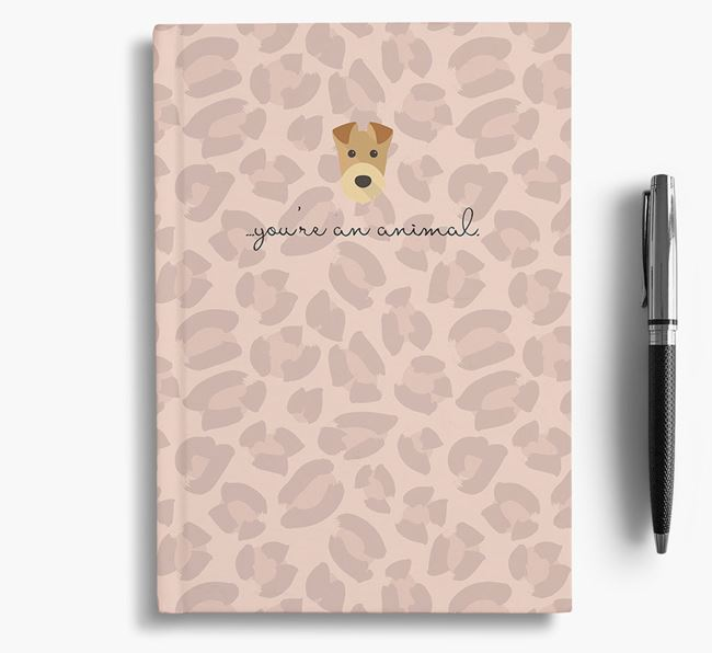 Animal Print Notebook with Airedale Terrier Icon