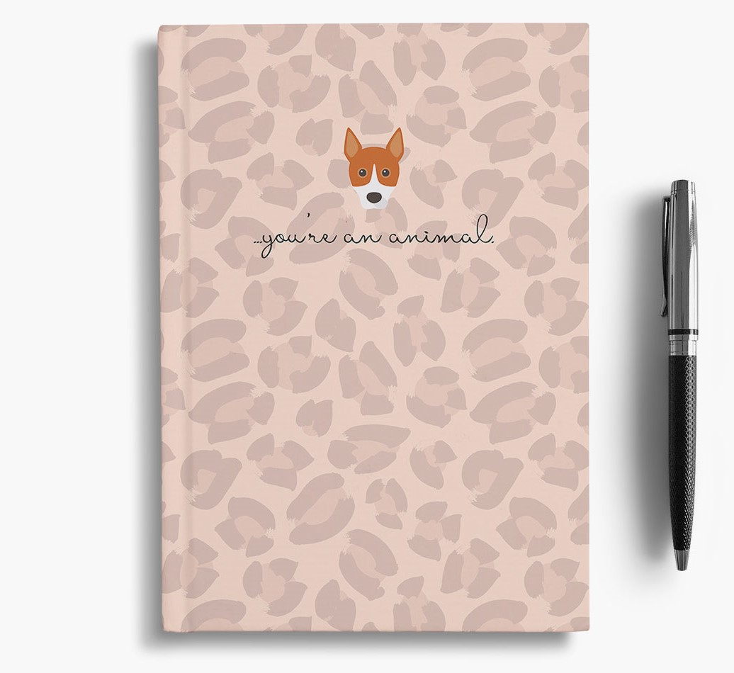Basenji {colour} Animal Print Notebook with Basenji Icon