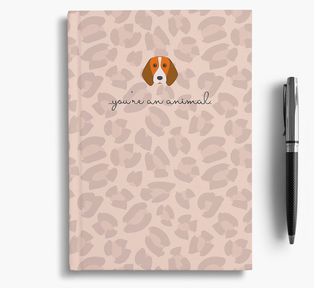 Beagle {colour} Animal Print Notebook with Beagle Icon