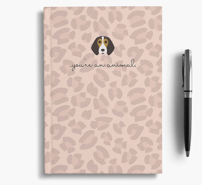 Animal Print Notebook with Beagle Icon