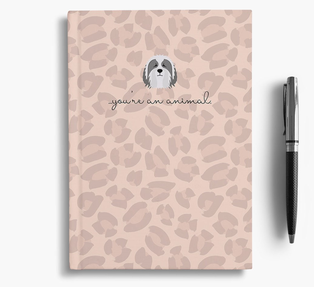Bearded Collie {colour} Animal Print Notebook with Bearded Collie Icon