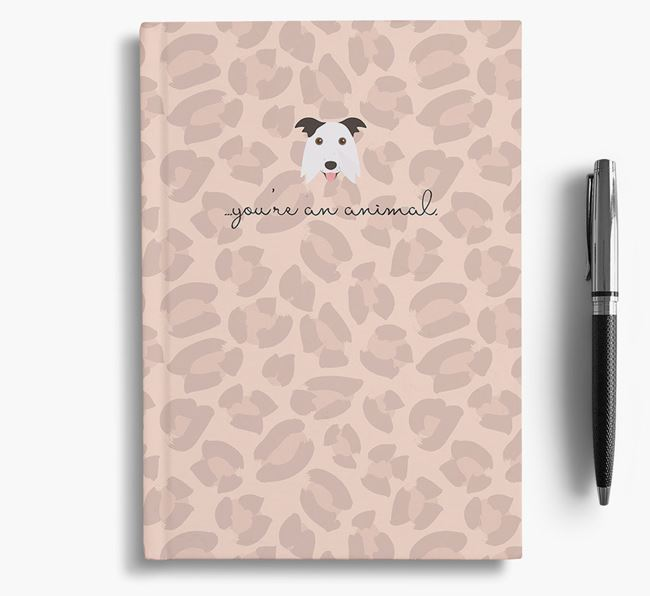 Animal Print Notebook with Border Collie Icon
