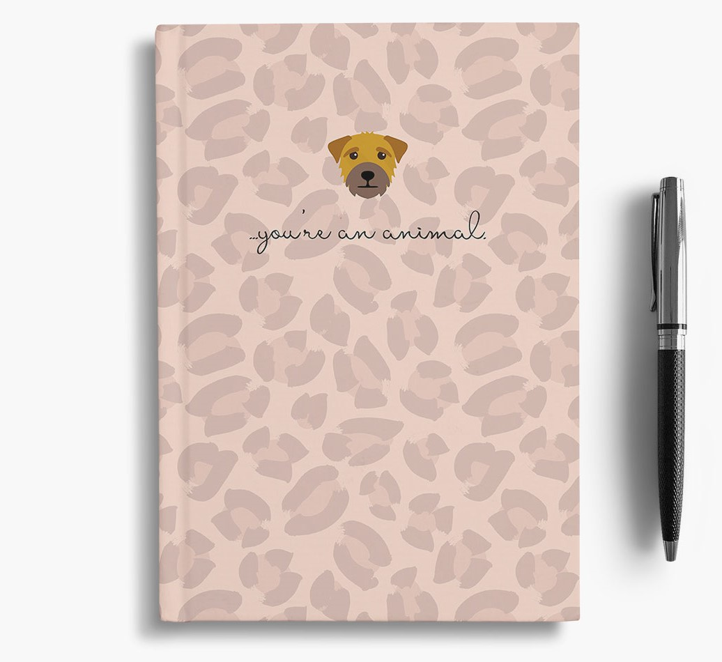 Border Terrier {colour} Animal Print Notebook with Border Terrier Icon