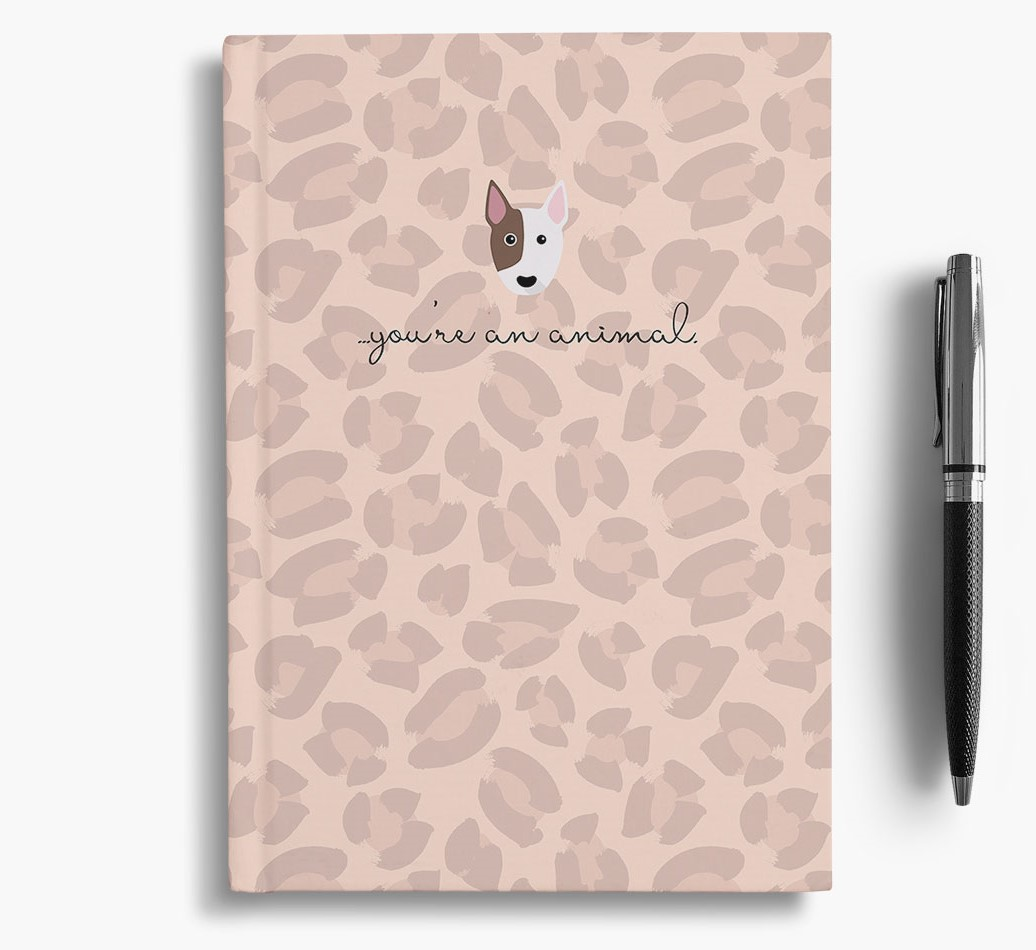 Bull Terrier {colour} Animal Print Notebook with Bull Terrier Icon