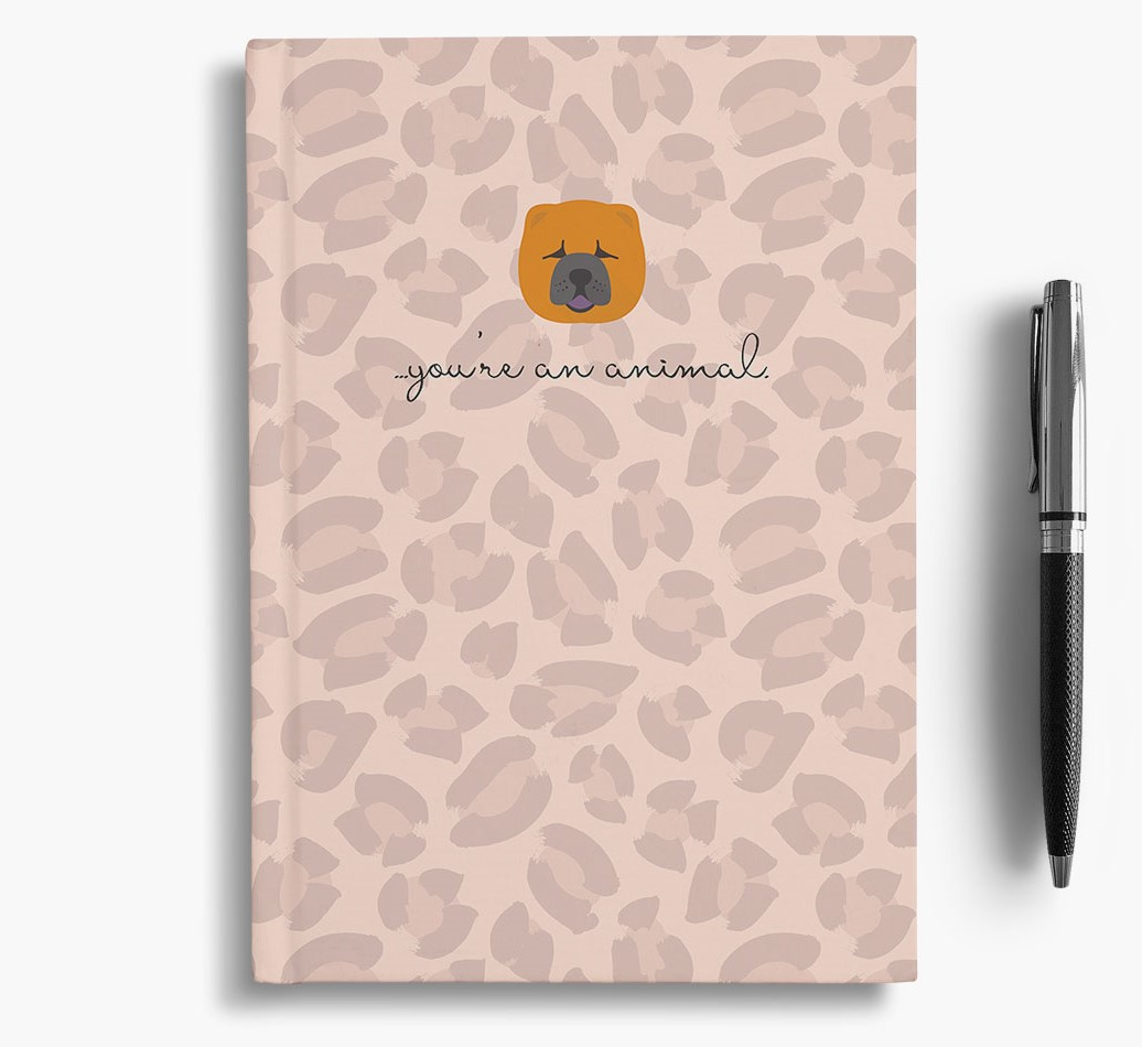 Chow Chow {colour} Animal Print Notebook with Chow Chow Icon