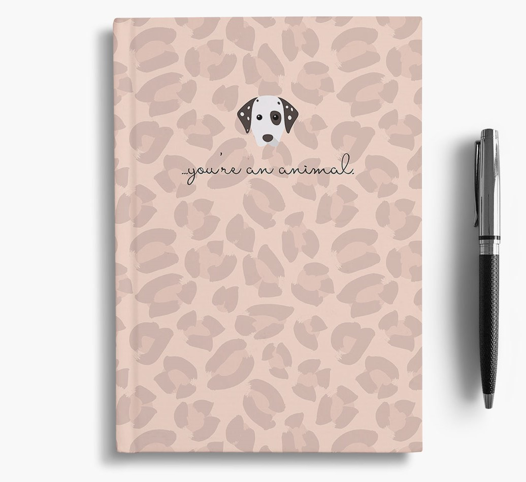 Dalmatian {colour} Animal Print Notebook with Dalmatian Icon