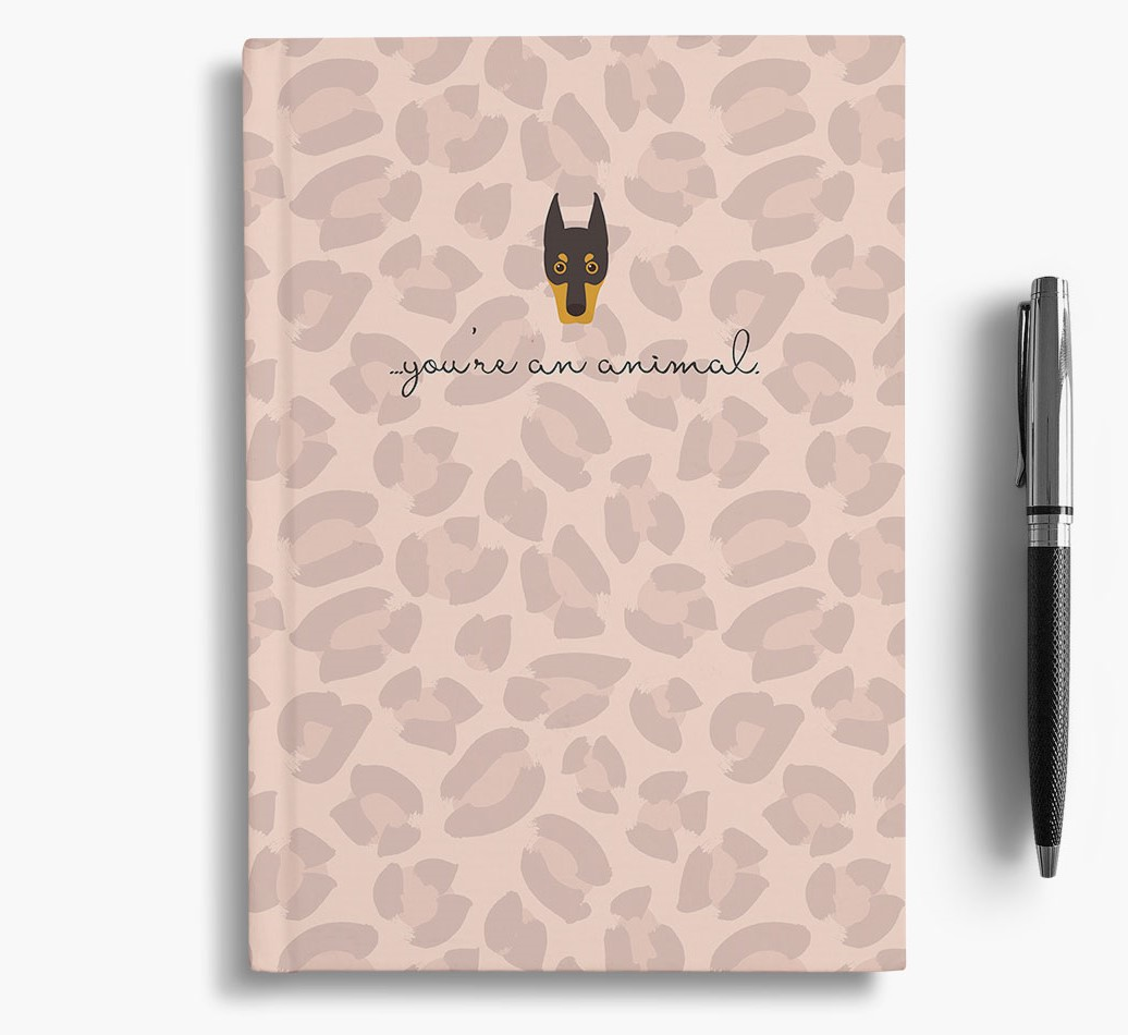 Dobermann {colour} Animal Print Notebook with Dobermann Icon