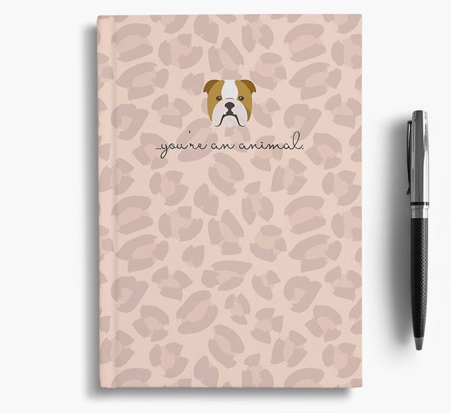 Animal Print Notebook with Dog Icon
