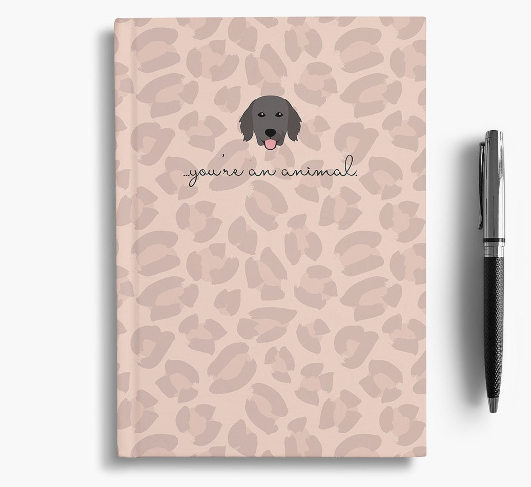 Flat-Coated Retriever {colour} Animal Print Notebook with Flat-Coated Retriever Icon