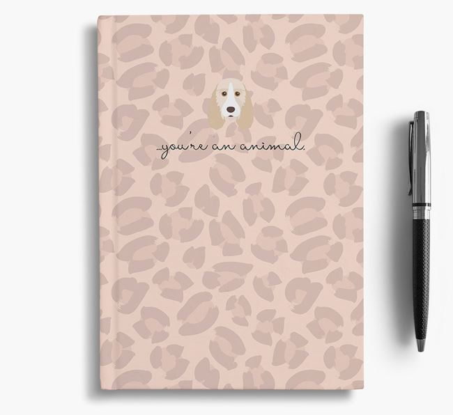 Animal Print Notebook with Grand Basset Griffon Vendeen Icon