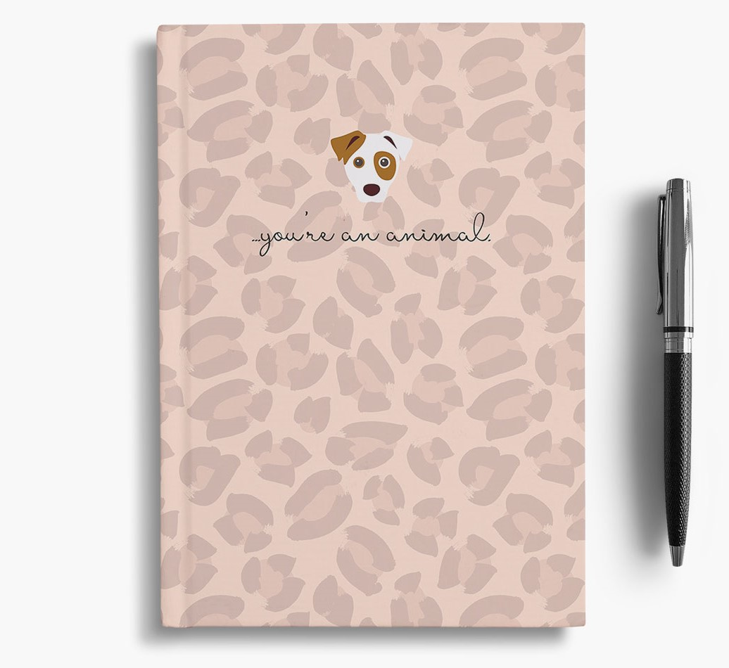 Jack Russell Terrier {colour} Animal Print Notebook with Jack Russell Terrier Icon