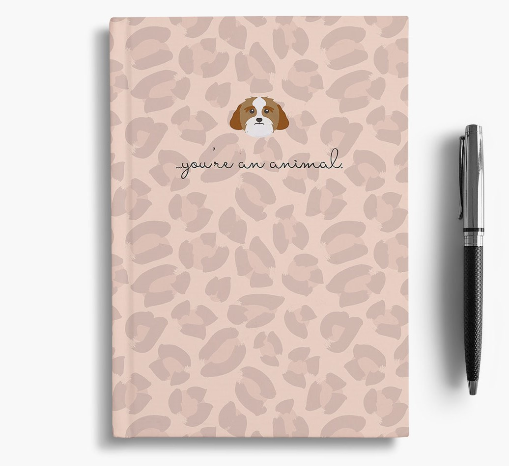 Lhasa Apso {colour} Animal Print Notebook with Lhasa Apso Icon