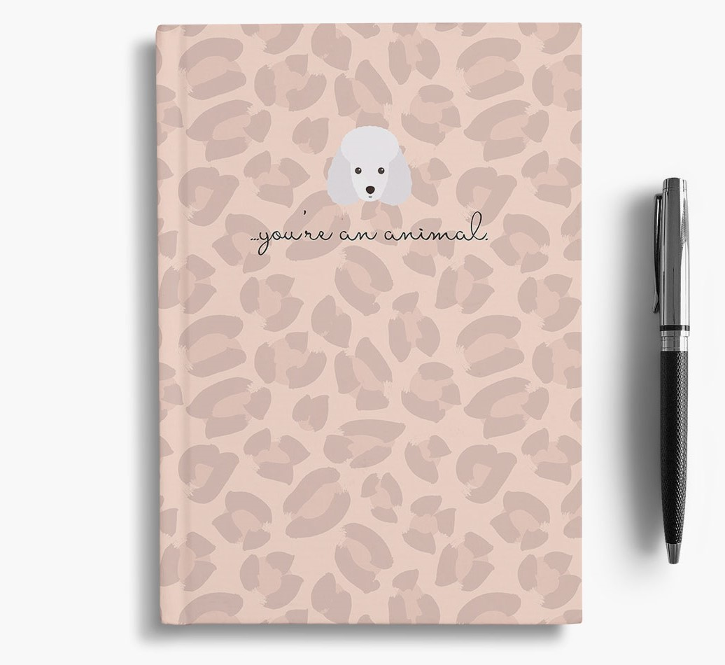 Miniature Poodle {colour} Animal Print Notebook with Miniature Poodle Icon