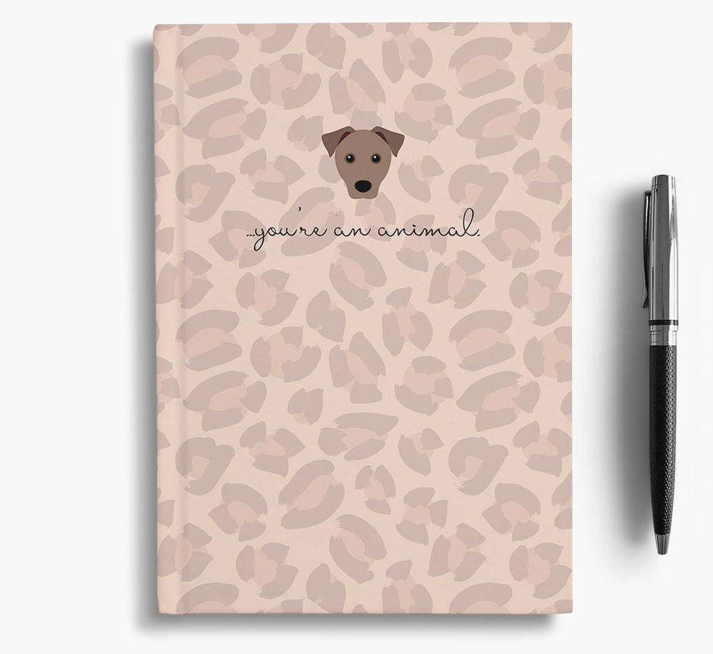 Mixed Breed {colour} Animal Print Notebook with Mixed Breed Icon
