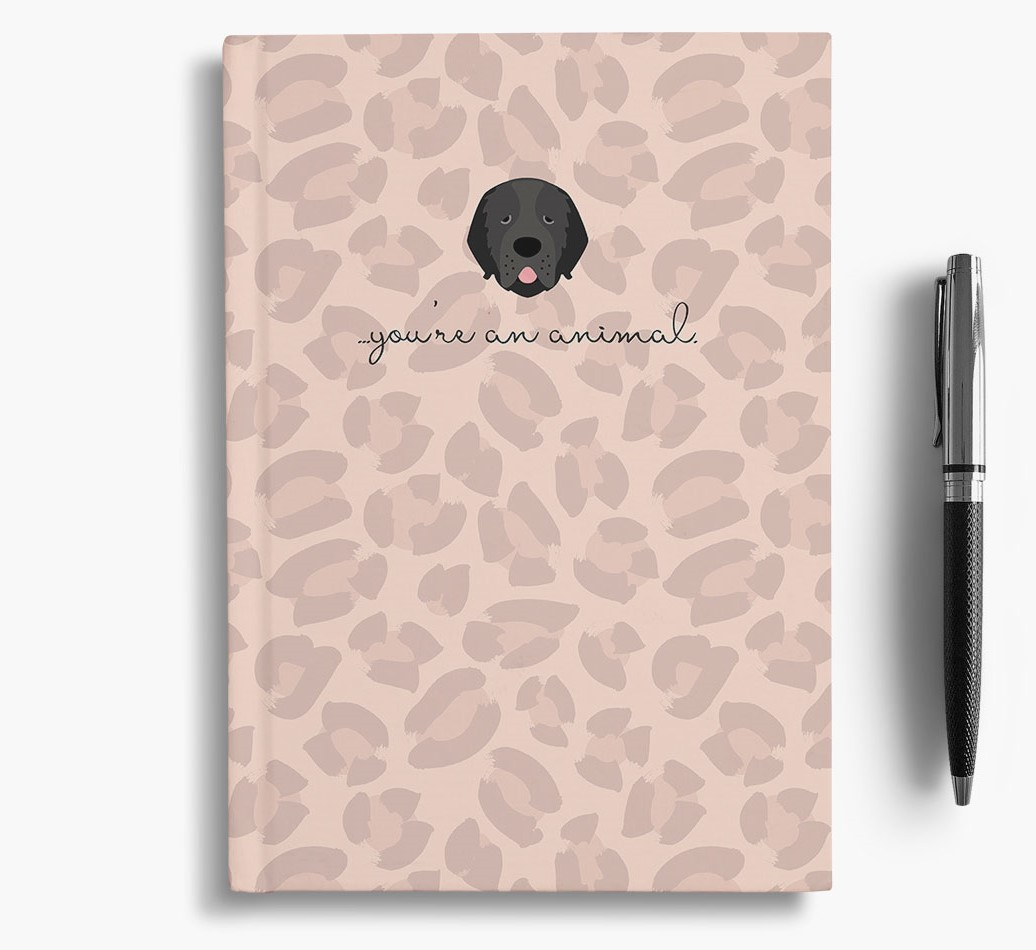Newfoundland {colour} Animal Print Notebook with Newfoundland Icon