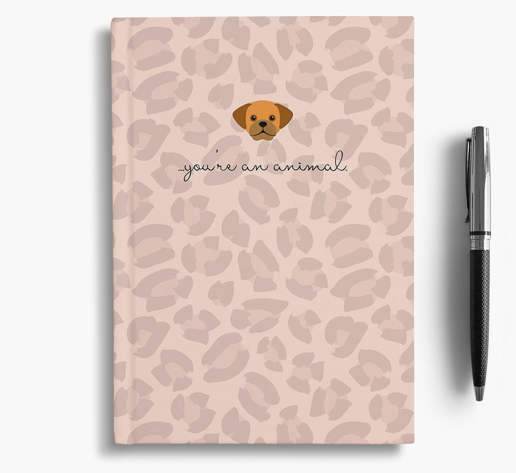 Puggle {colour} Animal Print Notebook with Puggle Icon