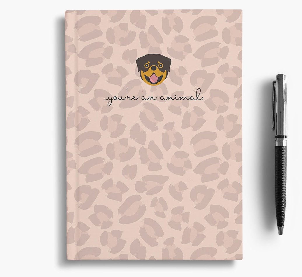 Rottweiler {colour} Animal Print Notebook with Rottweiler Icon