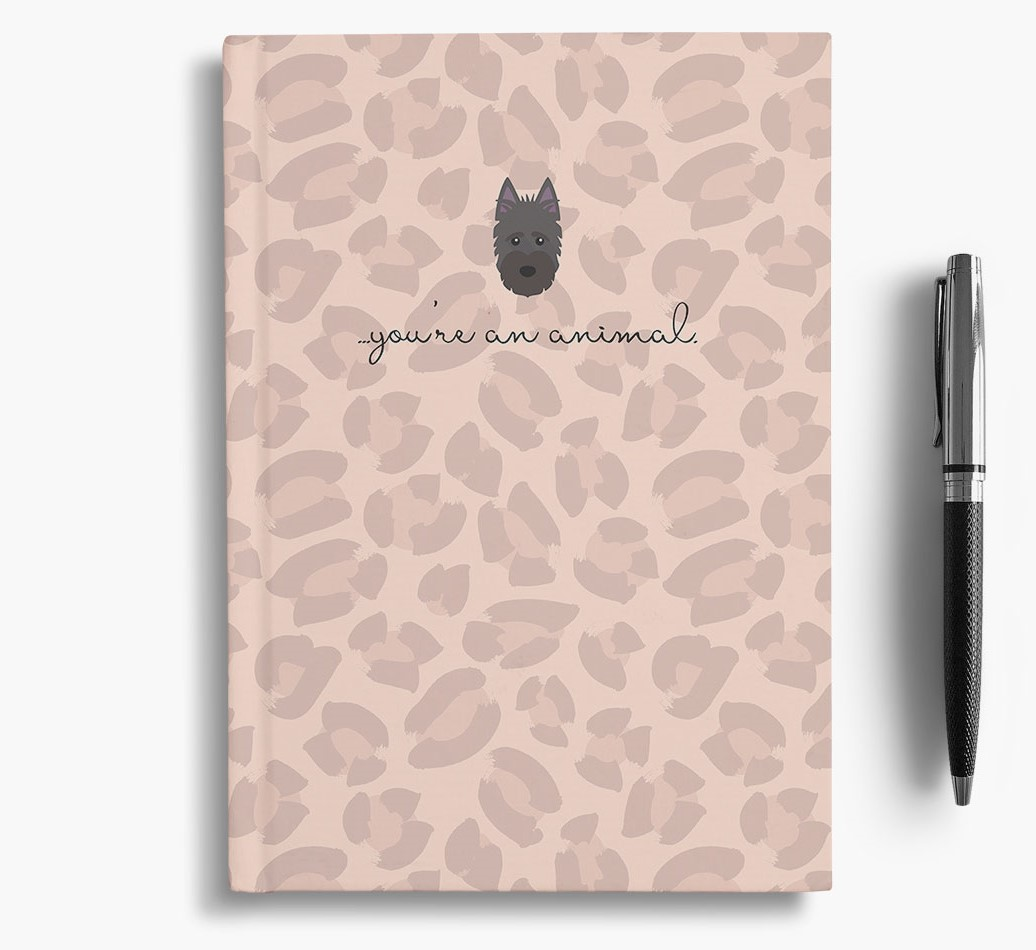 Scottish Terrier {colour} Animal Print Notebook with Scottish Terrier Icon