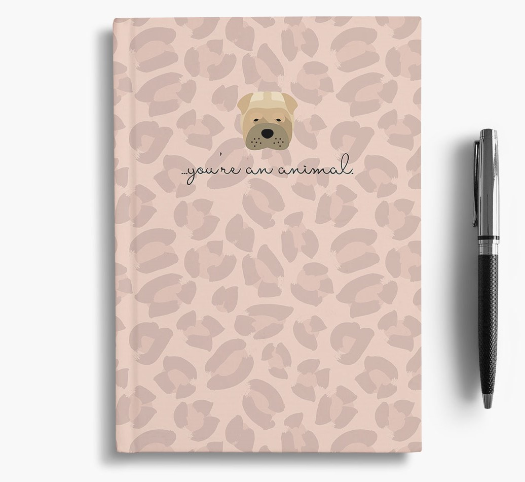 Shar Pei {colour} Animal Print Notebook with Shar Pei Icon