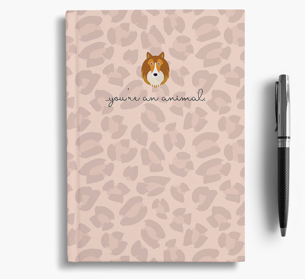 Shetland Sheepdog {colour} Animal Print Notebook with Shetland Sheepdog Icon