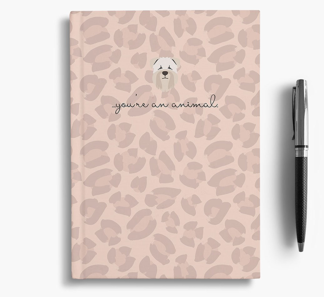 Soft Coated Wheaten Terrier {colour} Animal Print Notebook with Soft Coated Wheaten Terrier Icon