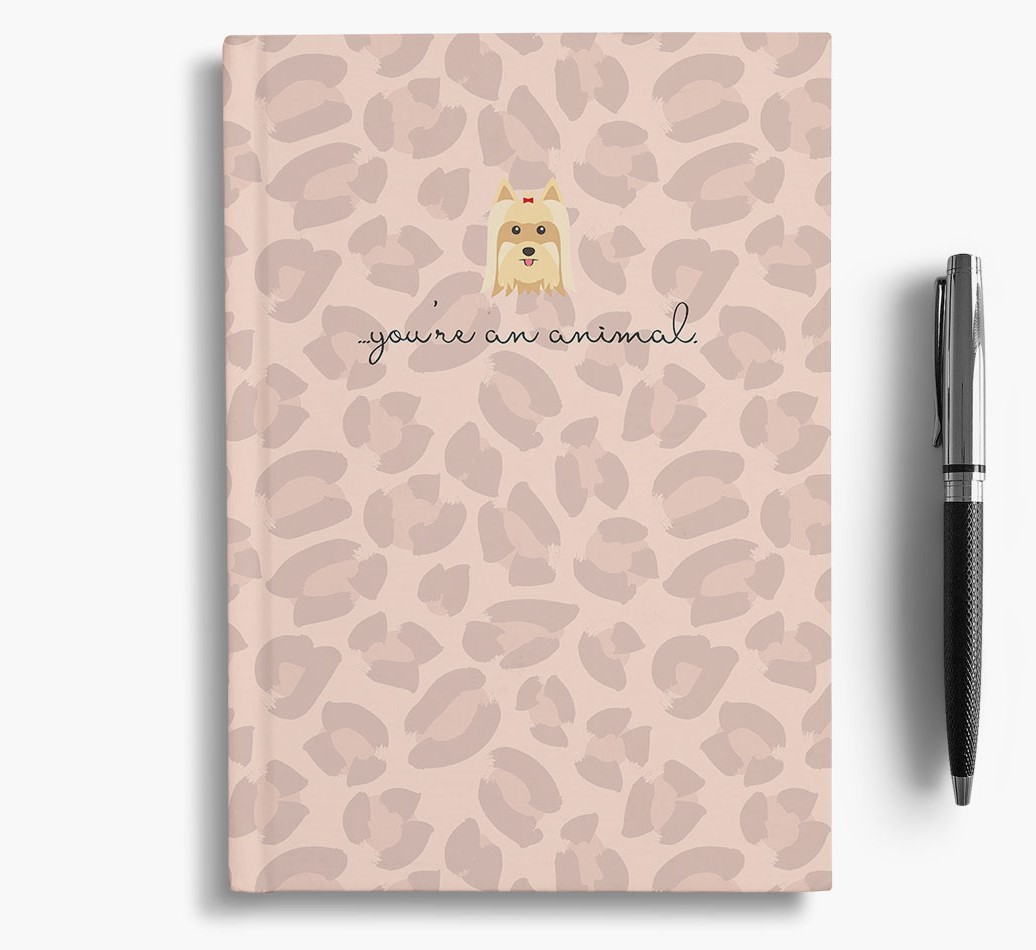 Yorkshire Terrier {colour} Animal Print Notebook with Yorkshire Terrier Icon