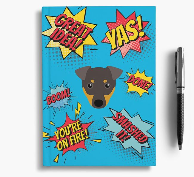 Comic Book Style Notebook with Dog Icon