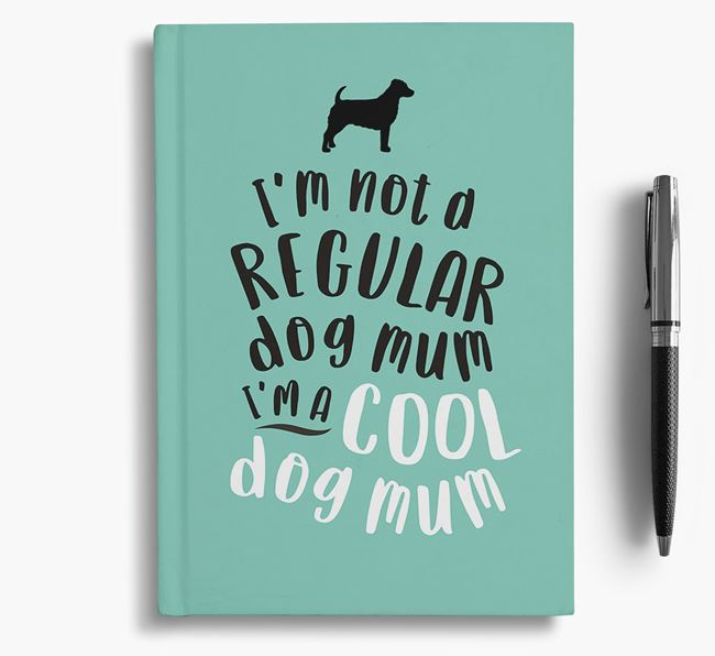 'Cool Dog Mum' Notebook with Jack-A-Poo Silhouette