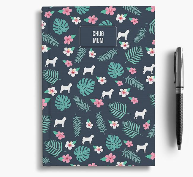 'Chug Mum' Notebook with Floral Pattern