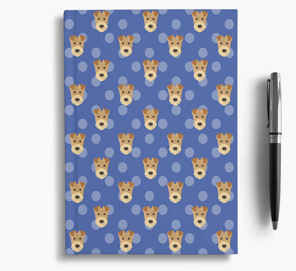 Airedale Terrier Icon Pattern Notebook