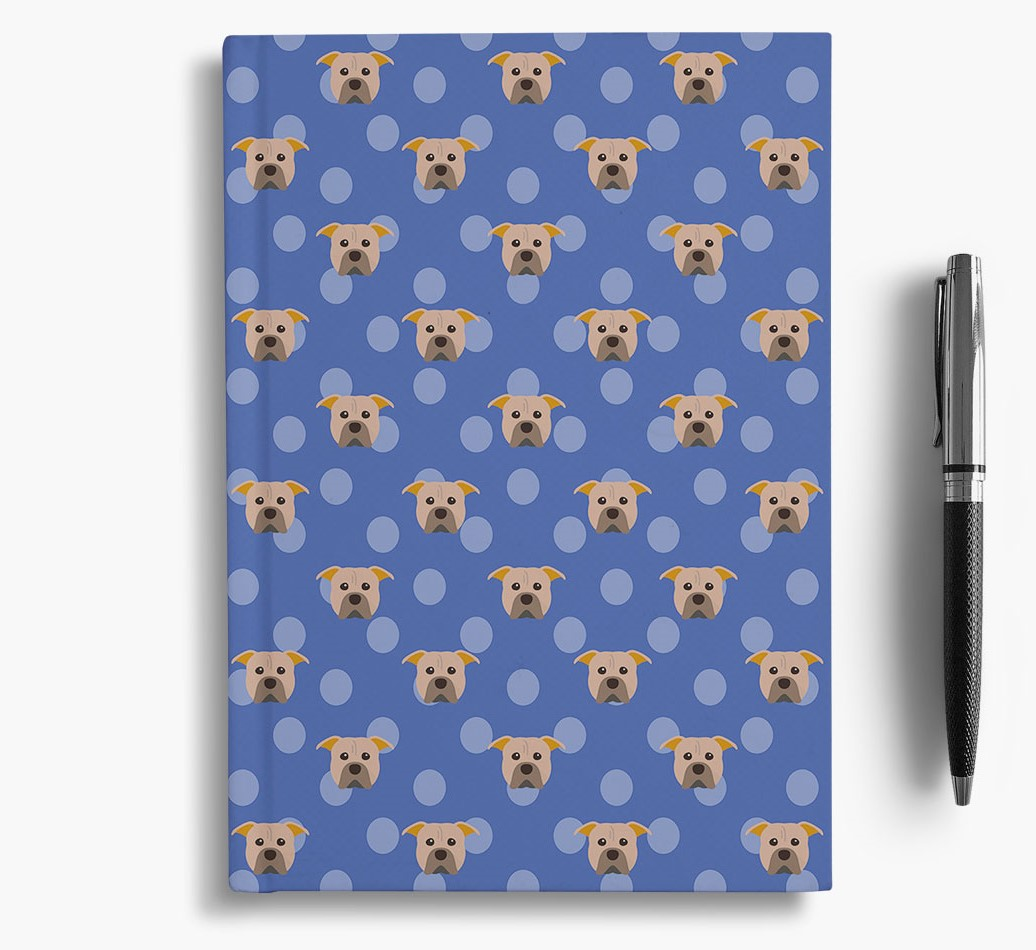 American Pit Bull Terrier Icon Pattern Notebook