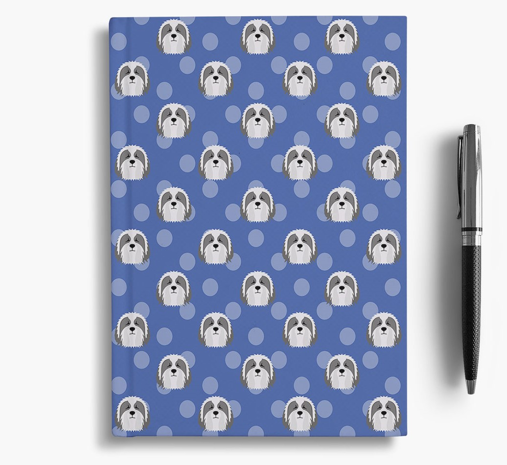 Bearded Collie Icon Pattern Notebook