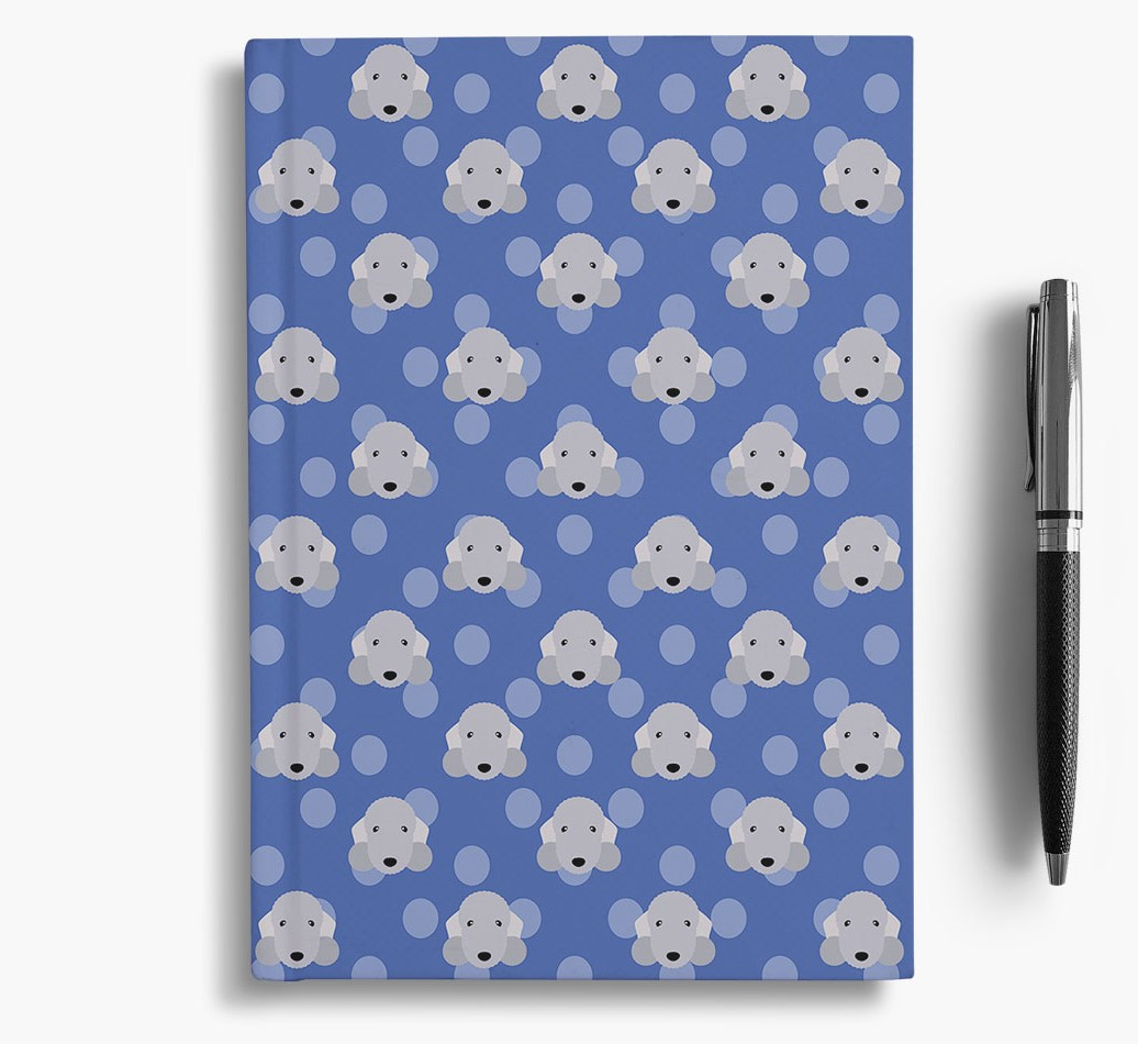 Bedlington Terrier Icon Pattern Notebook