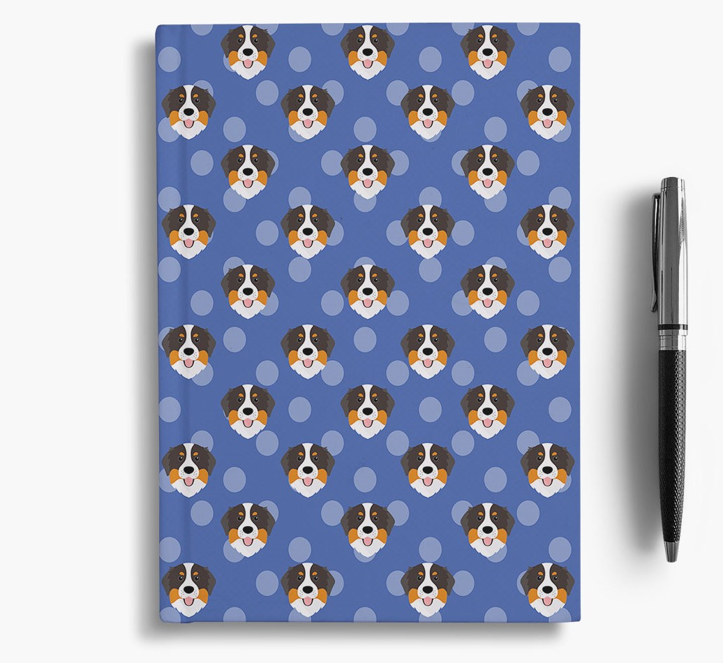 Bernese Mountain Dog Icon Pattern Notebook