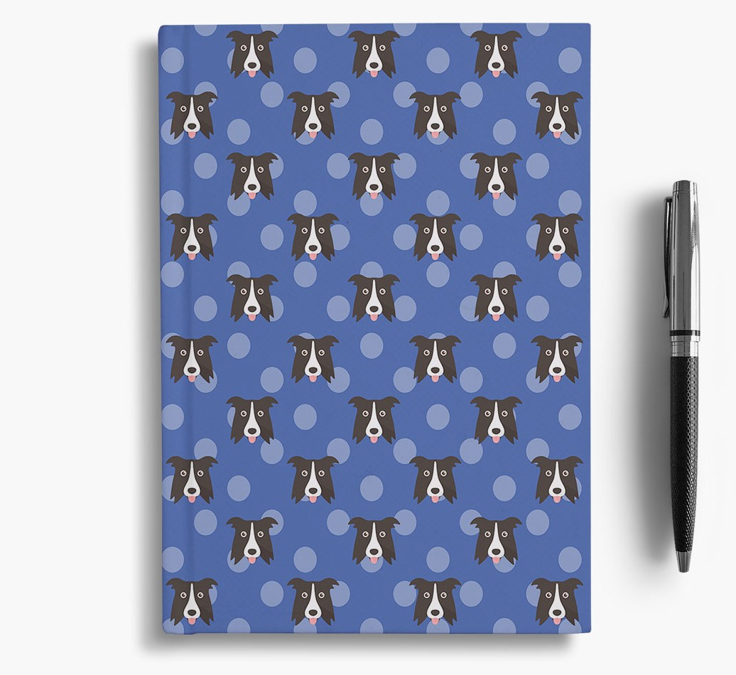 Border Collie Icon Pattern Notebook