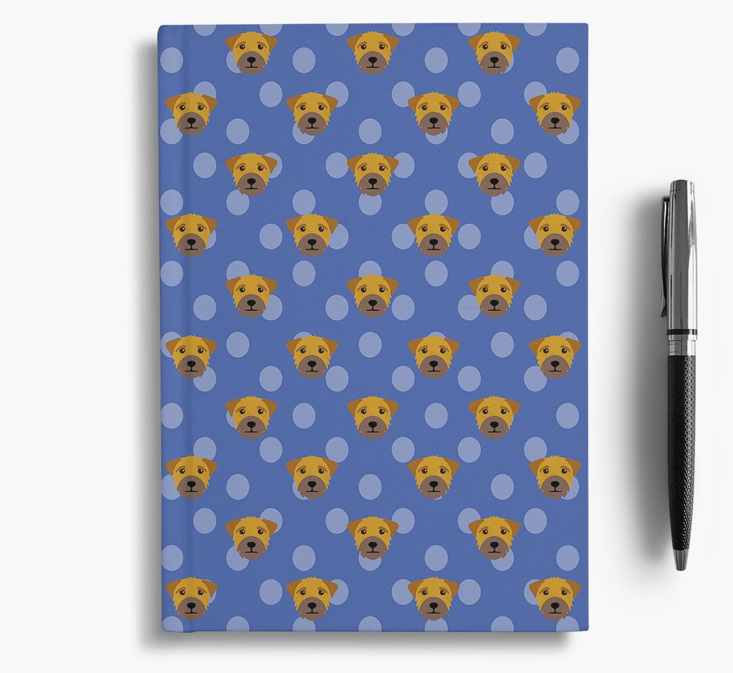 Border Terrier Icon Pattern Notebook
