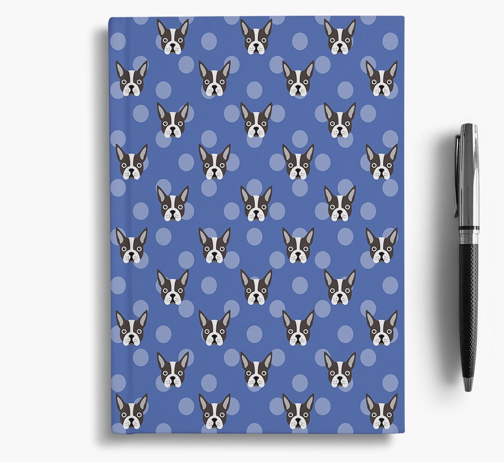 Boston Terrier Icon Pattern Notebook