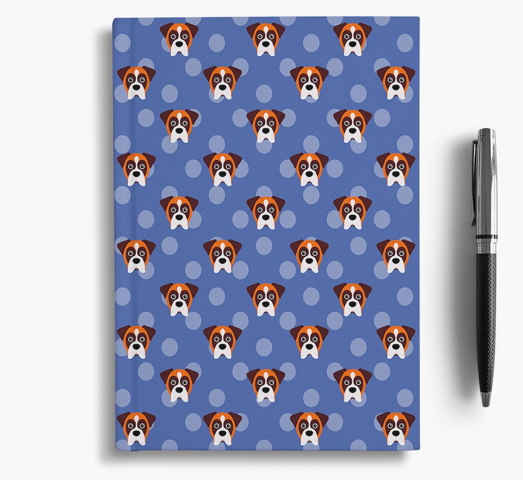 Boxer Icon Pattern Notebook