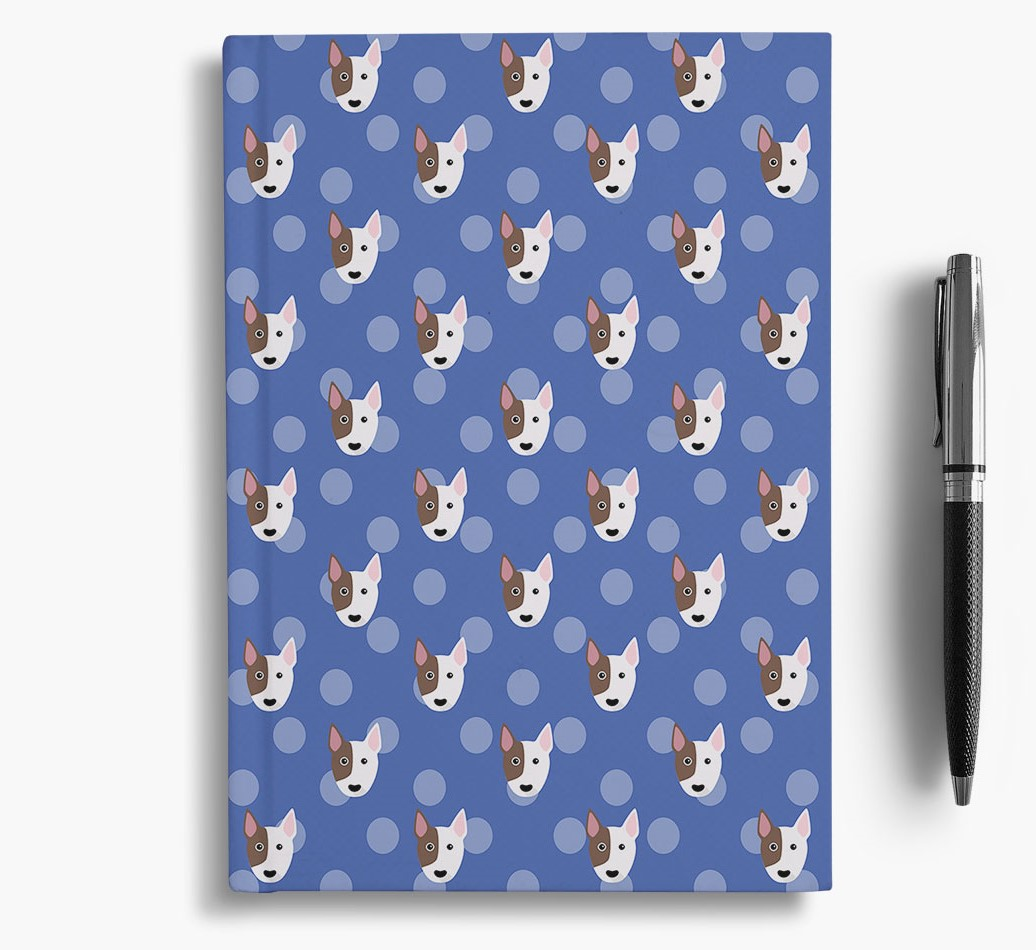 Bull Terrier Icon Pattern Notebook