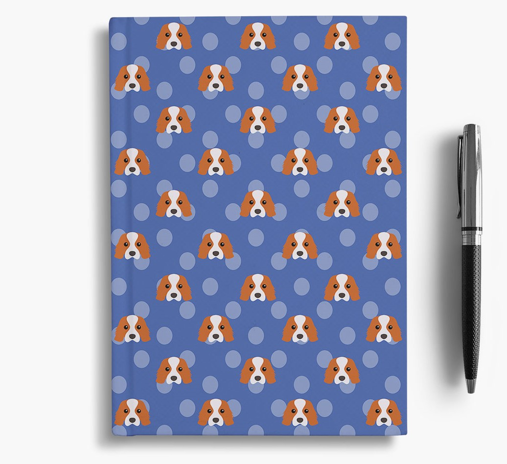 Cavalier King Charles Spaniel Icon Pattern Notebook