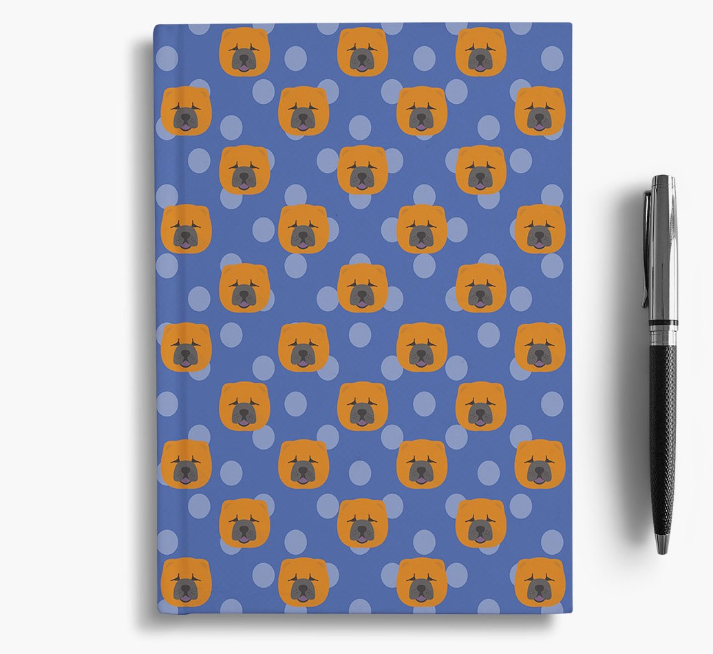 Chow Chow Icon Pattern Notebook
