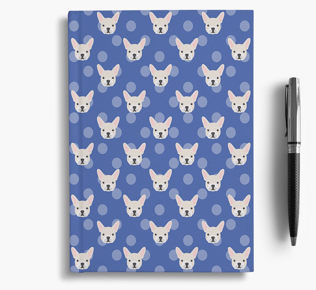 French Bulldog Icon Pattern Notebook