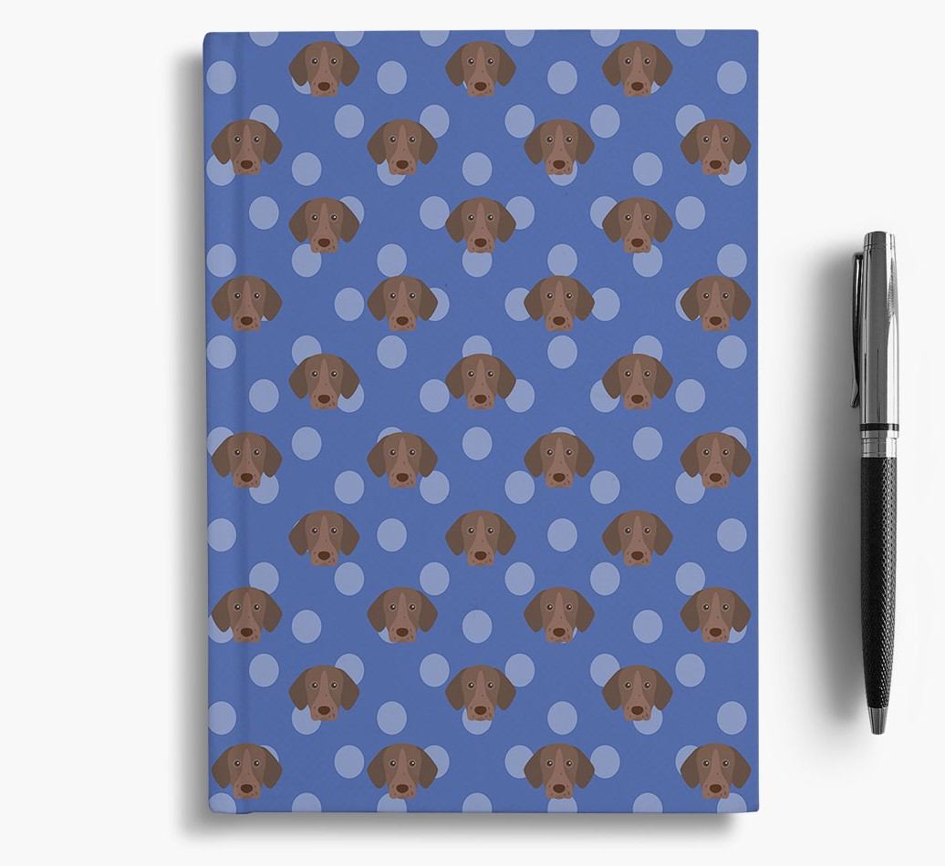 German Shorthaired Pointer Icon Pattern Notebook