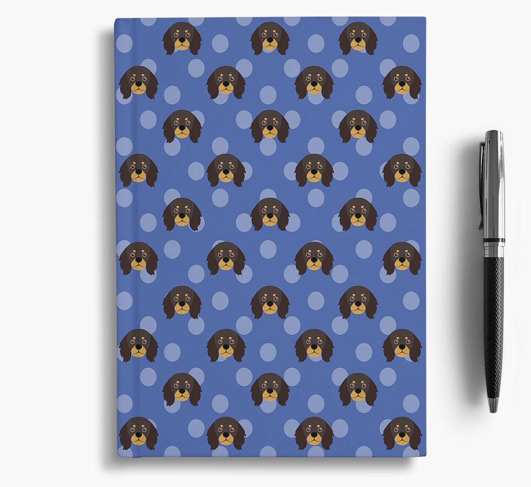 King Charles Spaniel Icon Pattern Notebook