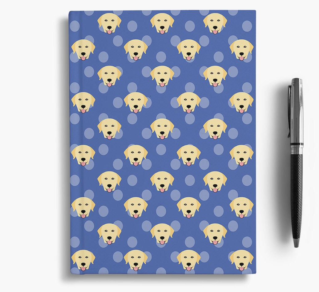 Labrador Retriever Icon Pattern Notebook