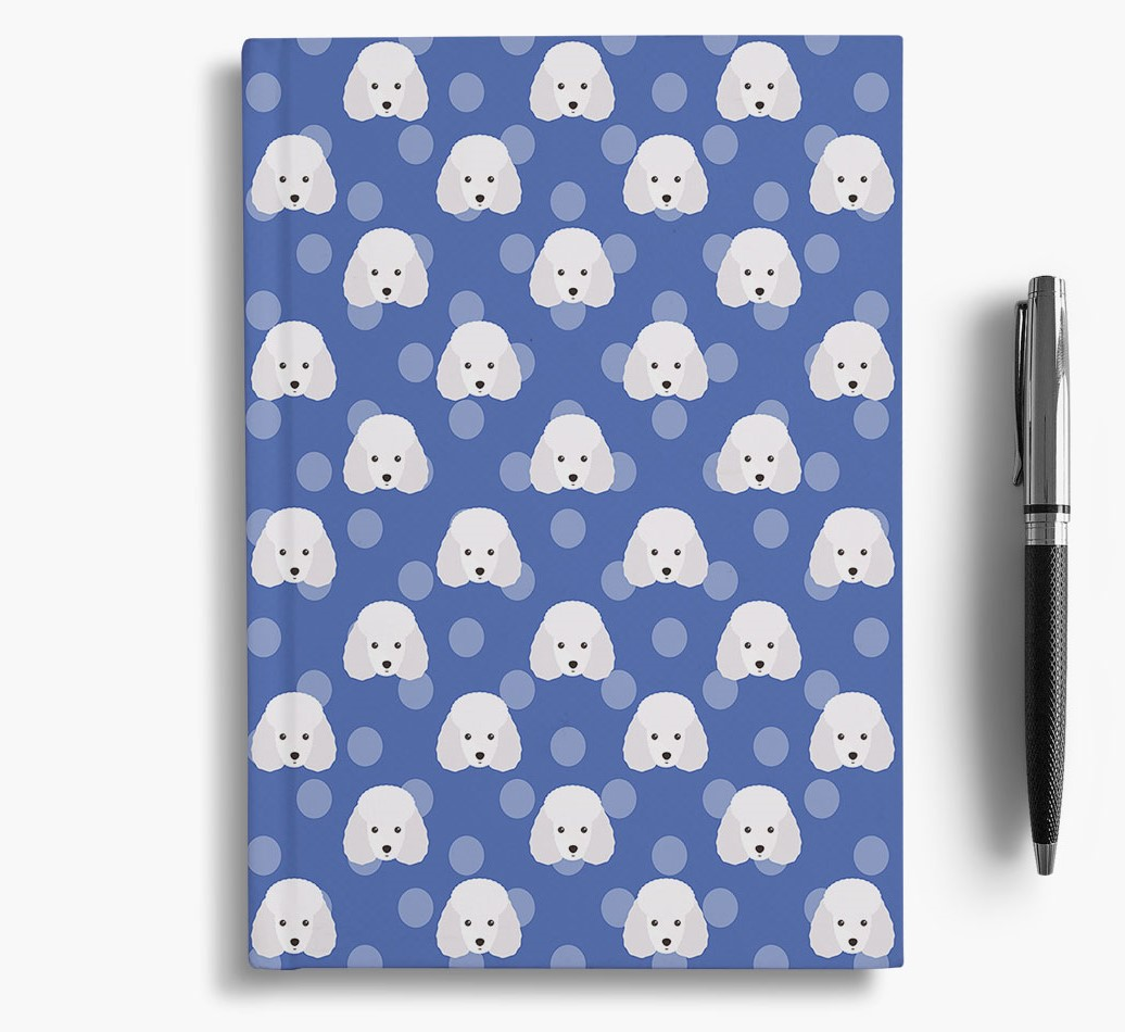 Miniature Poodle Icon Pattern Notebook
